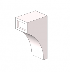 Cornice bracket Revit model
