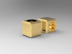 Solid-works 3D CAD Model of  Carrier Nut key, 15x9(mm)