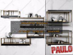 Estante de metal decorativo para pared 3ds max