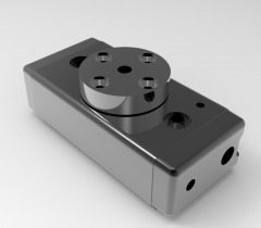 Solid-works 3D CAD Model of Rotary Modules for Swivelling units,  Weight= 1682gTorque=397NcmStroke=190°