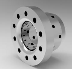 Solid-works 3D CAD Model of Oilless Flange Bushing, A=36L=25d=20D=28L1=20  (mm)