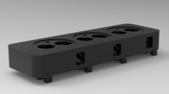 Autodesk Inventor 3D CAD Model of 3 Cylinders engine head