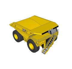 Mining truck sketchup block