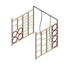 School gym climbing frame Revit model