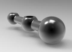 Autodesk Inventor ipt file 3D CAD Model of Crank Handles, A (Inch)=4         G THREAD=5/16-18H (Inch)=11/16
