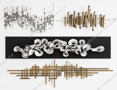 Wall decoration pattern 3ds max