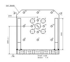651 A-Plate dwg. drawing