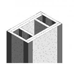 Caixa de coluna com classificação de fogo