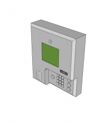 Access control system Sketchup block