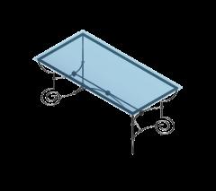 Tavolo da pranzo in vetro Revit e modello max