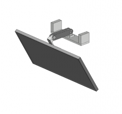 Ceiling mounted monitor 3D DWG model