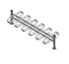 Bicycle rack 3D DWG model