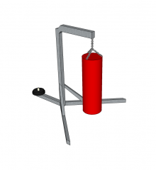 Heavy bag with stand sketchup model