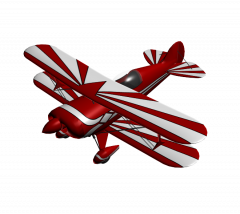 Bi plane 3DS Max model