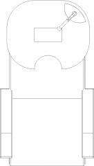 672mm Width Portable Hair Salon Wash Basin Plan dwg Drawing