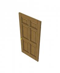 Portas de carvalho modelos 3D