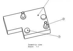 685 Machining fixture ballooning drg. dwg. drawing