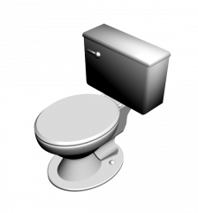 Close coupled WC 3DS Max model