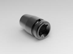 "Solid-works 3D CAD Model of 1/2"" impact drive bit-holders:  1/2""Ø d1= 20 Ø d2=25L=40 Mass(g)=40"