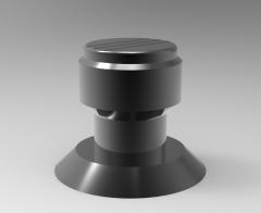 Autodesk Inventor ipt file 3D CAD Model of Positioning Knob,  D (mm)=6H7, D1 (mm)=26,D2 (mm)=40,D3 (mm)=23,D4 (mm)=M4