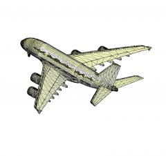 Airbus A380 3D DWG model