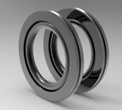 Solid-works 3D CAD Model of Single acting piston sealing washer D (mm)25d (mm)17.7L (mm)3.2