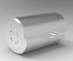 Solid-works 3D CAD Model of Ball Spline with cylindrical nut, Ø=10L(mm)=16 b(mm)=2t(mm)=1.2