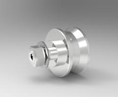 Solid-works 3D CAD Model of Wheels, D= 22d=M6