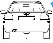 Audi A3 in elevation view dwg model
