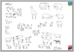 GRANDE LIBRERIA DI ANIMALI_AUTOCAD-2D