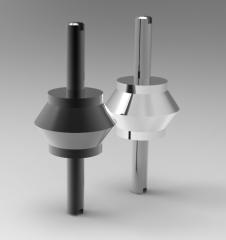 Solid-works 3D CAD Model of Shockproof base, D1=30D2=24H1=22H2=18M8