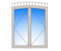 Zwei Erkerfenster