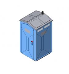 Portable toilet Revit model