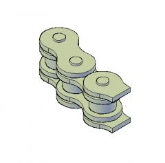 Roller chain 3D DWG model