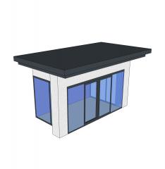 entrada de la recepción modelo de diseño SketchUp