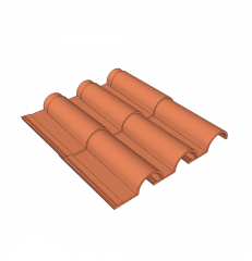 Double roman roof tile  sketchup model