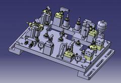 714 Гидравлическое приспособление CAD Модель dwg. Рисование