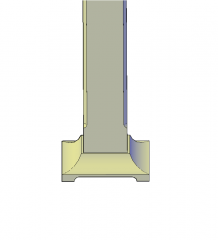 Timber post and anchor 3D DWG block
