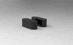 Autodesk Inventor 3D CAD Model of steel Material Feather key wxhxl=3X3X10
