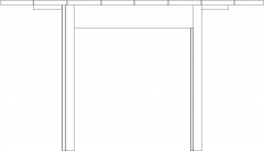 720mm Height Wooden Center Table Right Side Elevation dwg Drawing