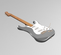 Electric guitar 3DS Max model