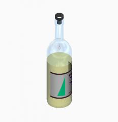 Bottiglia di vino modello 3DS Max