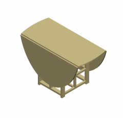 Folding table 3DS Max model