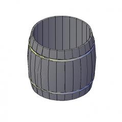 Barrel 3D DWG model