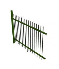 Palisade fence sketchup model