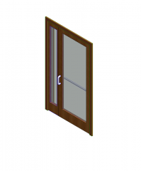 Door and sidelight Revit file