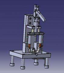 739 Сборка сварочного приспособления CAD Модель dwg. файл