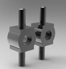 Solid-works 3D CAD Model of O-shaped mounts M05   D1=12