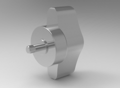Solid-works 3D CAD Model of knob with Torque limit,  M5x10-2