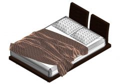 Queen Size Bed Revit Family 2